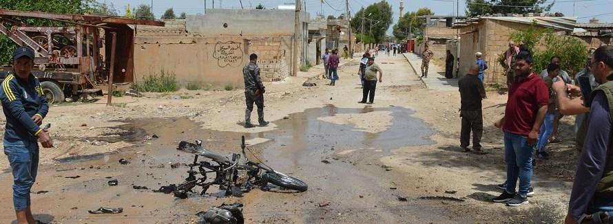 أضرار مادية في انفجار دراجة نارية يقودها انتحاري في ريف الحسكة
