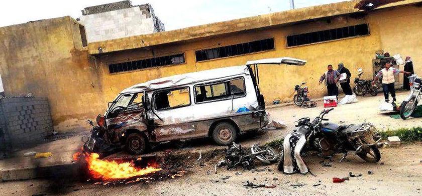 """ضحايا بانفجار """"مفخخة"""" في سوق ببلدة قباسين شرق حلب"""