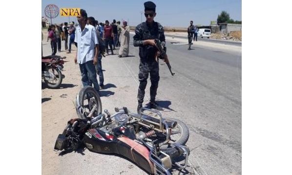 مقتل شخص وجرح آخر في حادث سير بين قافلة للتحالف الدولي ودراجة نارية في الحسكة