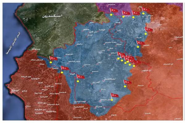 القوات التركية في سوريا… أهدافها ومواقعها