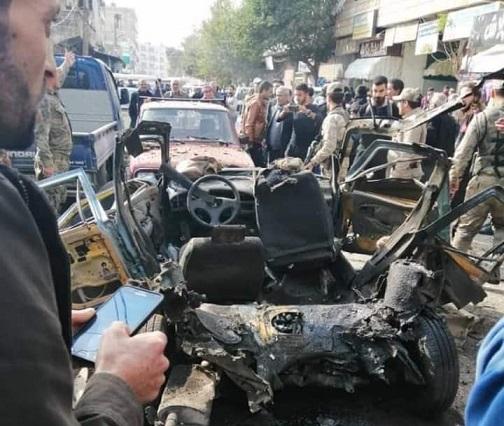 جرحى في انفجار سيارة وسط مدينة عفرين