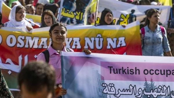 مظاهرات في منطقة أردوغان الآمنة ترفع شعارات تطالب باسقاط نظامه وسحب جيشه من سوريا