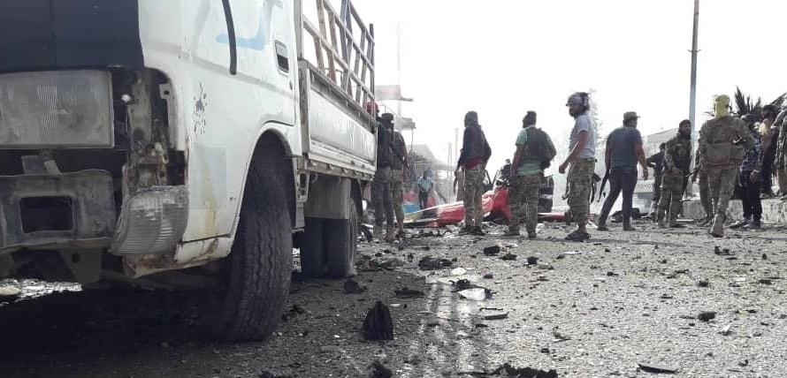 مقتل واصابة جنود أتراك في انفجار سيارة مفخخة قرب مدينة تل أبيض الحدودية