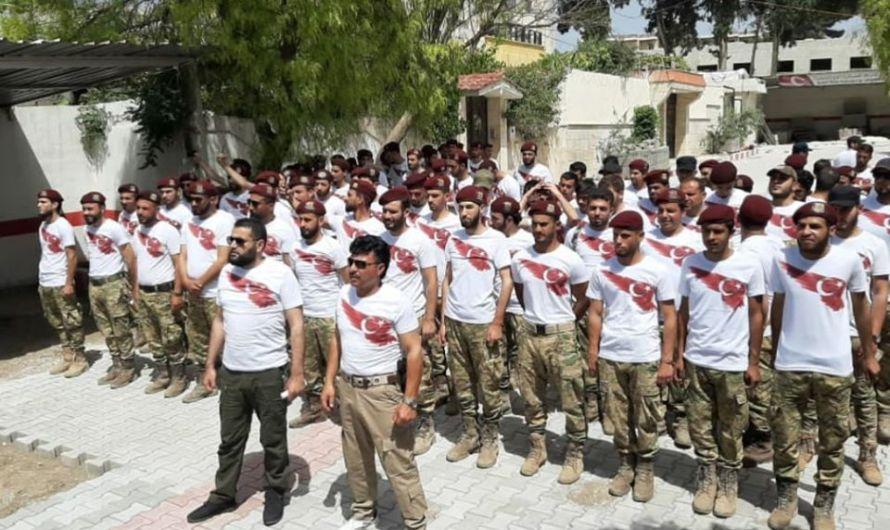 """بالعلم التركي"""" المنقوش على الصدر ….تخريج دفعة جديدة من عناصر الشرطة العسكرية للعمل في عفرين"""