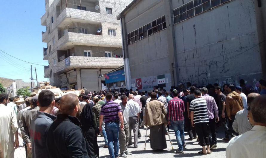 """احتجاجات """"الخبز والجوع"""" تعم المناطق الخاضعة لتركيا في شمال سوريا"""