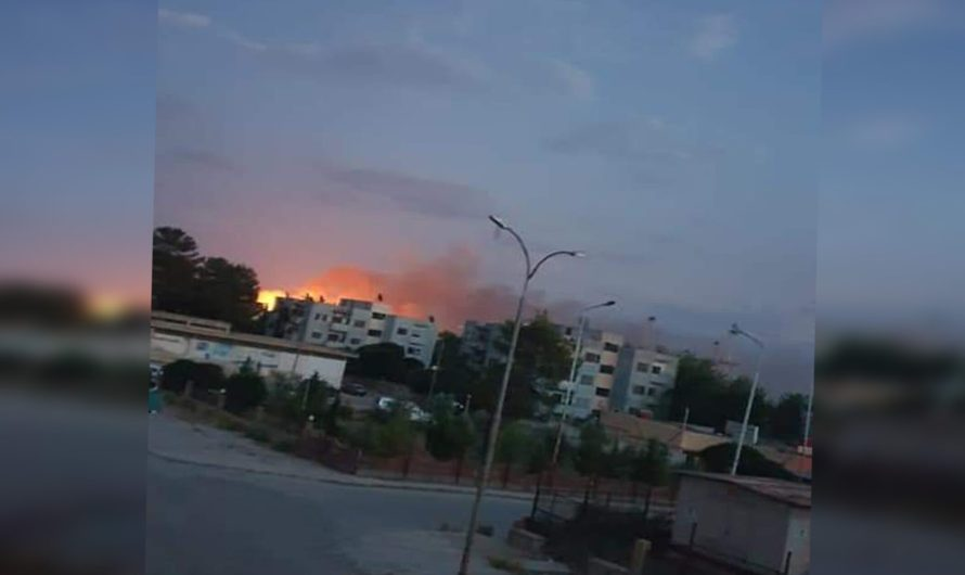 انفجار مستودع أسلحة في بلدة رميلان شمال شرقي سوريا
