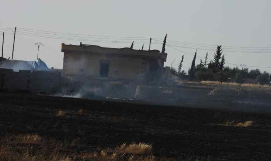 إصابة مدني بجروح وهدم مسجد في قصف تركي استهدف قرية شمالي الرقة