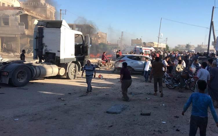 تركيا تفشل مجددا في حماية المدنيين…. مقتل 15 في أربع تفجيرات بمناطق خاضعة لسيطرتها شمال سوريا