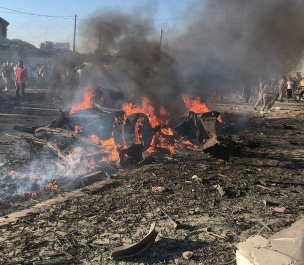 العشرات من القتلى والمصابين نتيجة انفجار سيارة مفخخة في قرية سجو بريف حلب