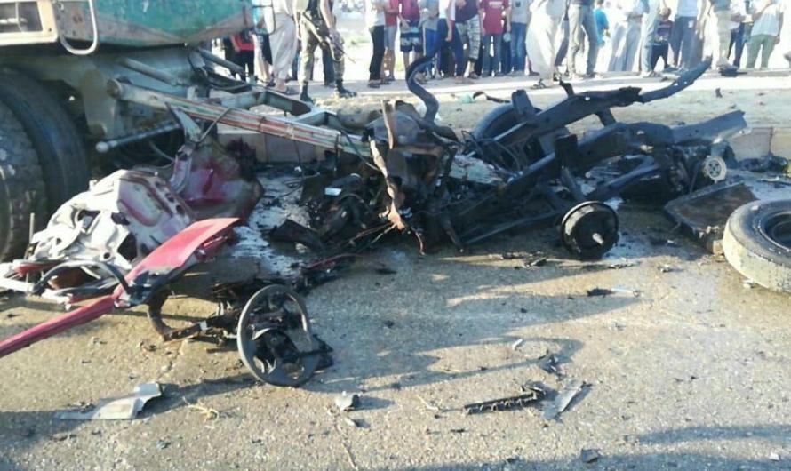 تركيا تفشل مجددا في حماية المدنيين .. ضحايا في انفجار سيارة مفخخة بمدينة الباب