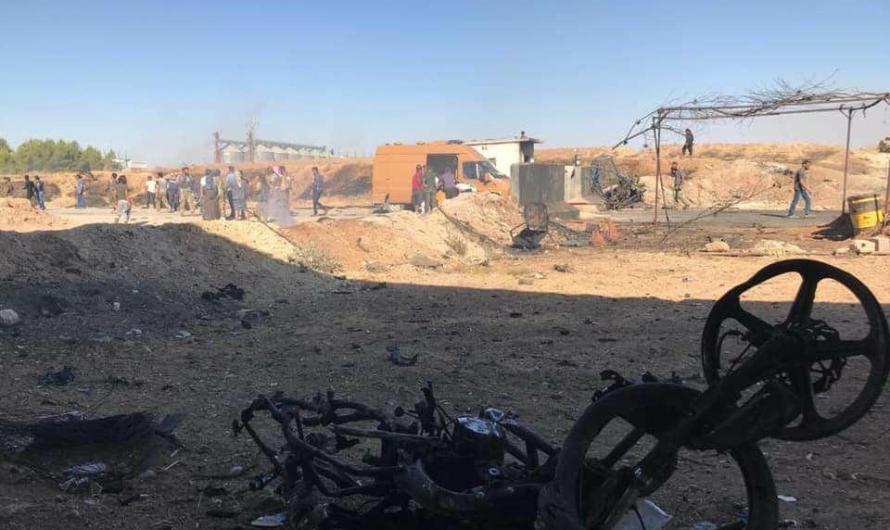 قتلى وعدد كبير من المصابين في انفجار سيارة استهدفت حاجزا عسكريا في بلدة رأس العين