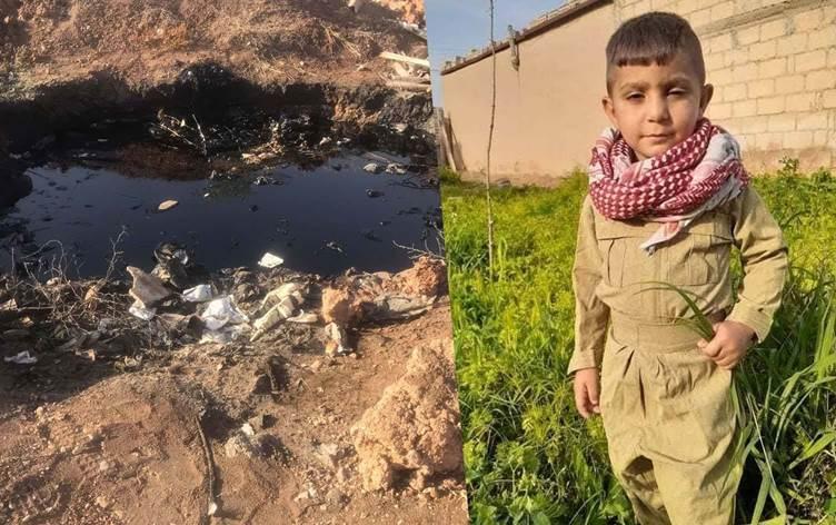طفل يفقد حياته بسقوطه ببركة نفط في مدينة القامشلي