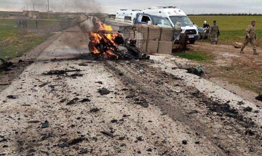 مقتل 6 مسلحين موالين لتركيا وإصابة 4 بجروح جراء انفجار سيارة مفخخة على حاجز تفتيش شرقي مدينة بزاعة بريف حلب الشرقي