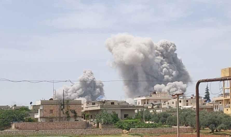 إدلب …مقتل امرأة واصابة 11 مدني بينهم 6 أطفال في انفجار مستودع للذخيرة ضمن مخيم للنازحين