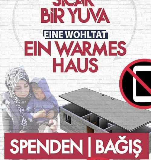 منظمة تركية تجمع تبرعات في ألمانيا لبناء مستوطنات في عفرين وشمال سوريا