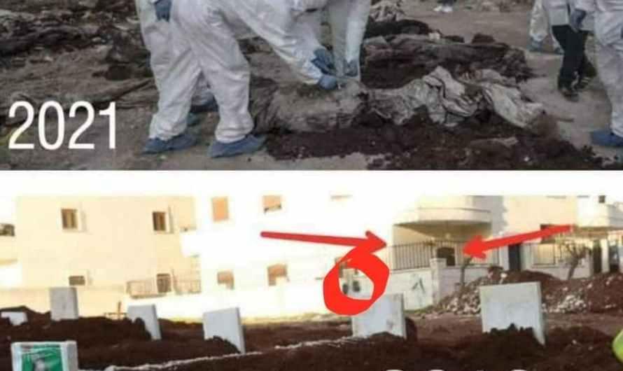 """صور وفيديو تكذب رواية أنقرة حول """"المقبرة الجماعية"""" في عفرين"""
