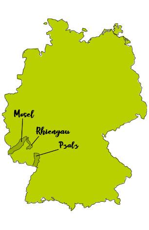 riesling mapa alemania