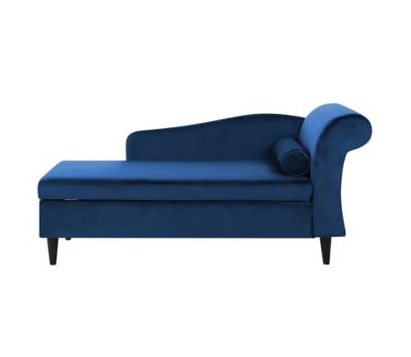 right hand velvet chaise longue navy blue luiro