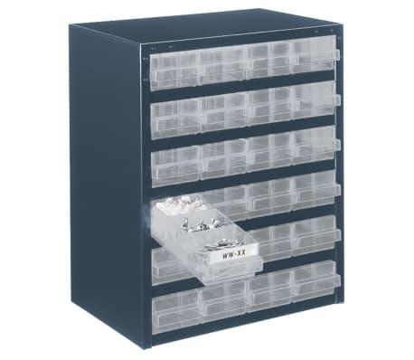 details sur raaco casier de rangement 250 24 1 a 24 tiroirs 137577 armoire a tiroirs