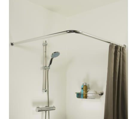 details sur sealskin tringle de rideau de douche d angle support baignoire salle de bain
