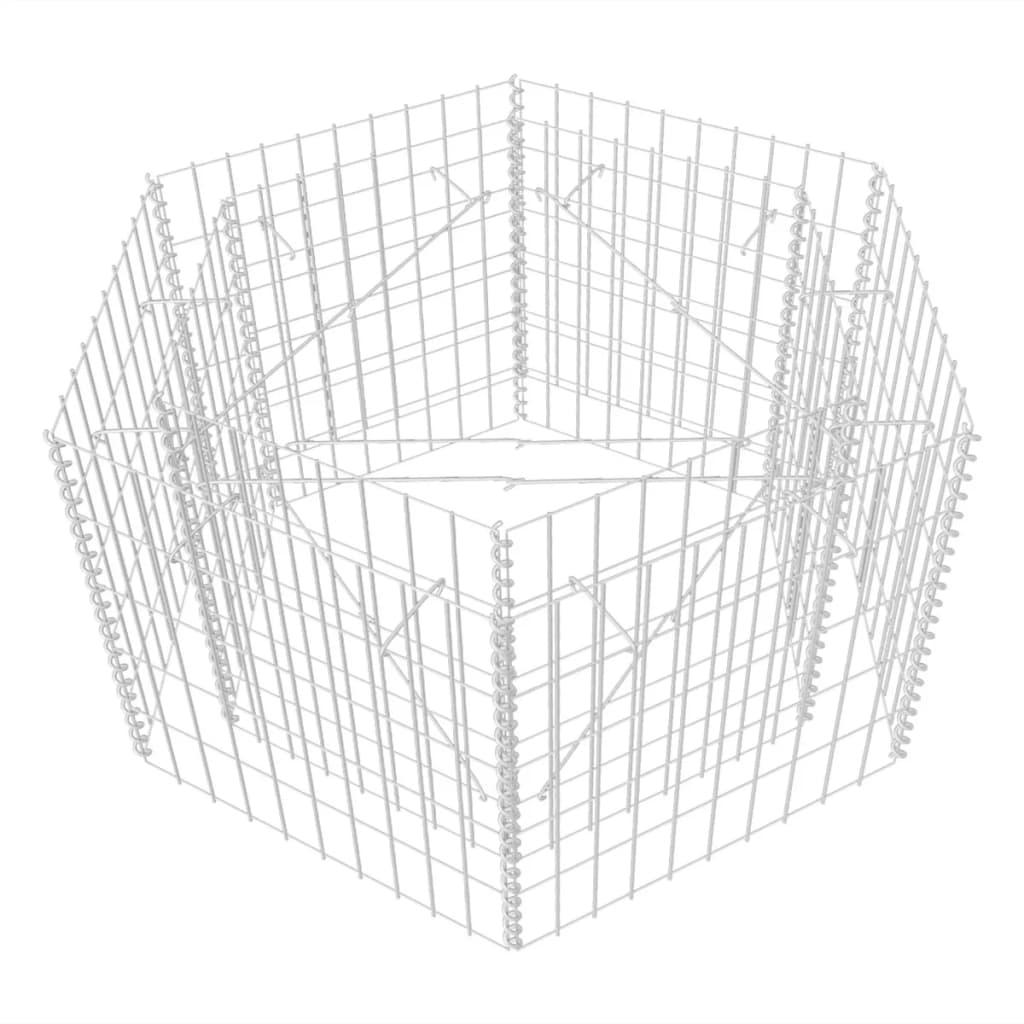 Hexagonal Gabion Planter Plant Basket Pot Stone Cage Steel