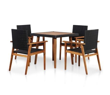 https www vidaxl com e 8718475607083 vidaxl 5 piece outdoor dining set poly rattan black and brown