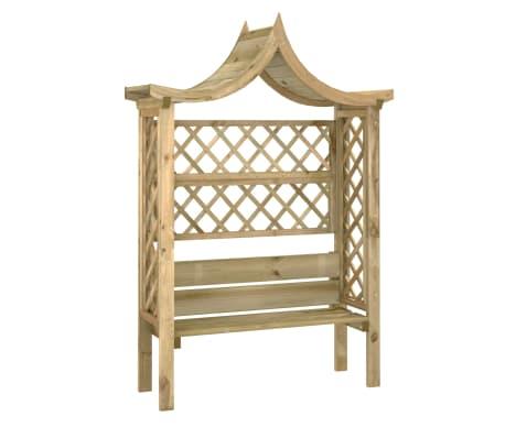 vidaxl pergola de jardin avec toit et banc bois de pin impregne