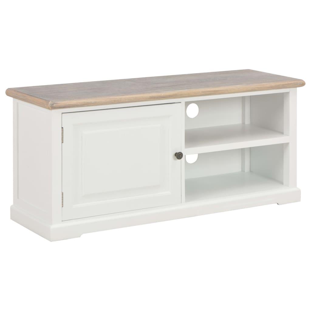 meuble tv en bois blanc 90x30x40cm