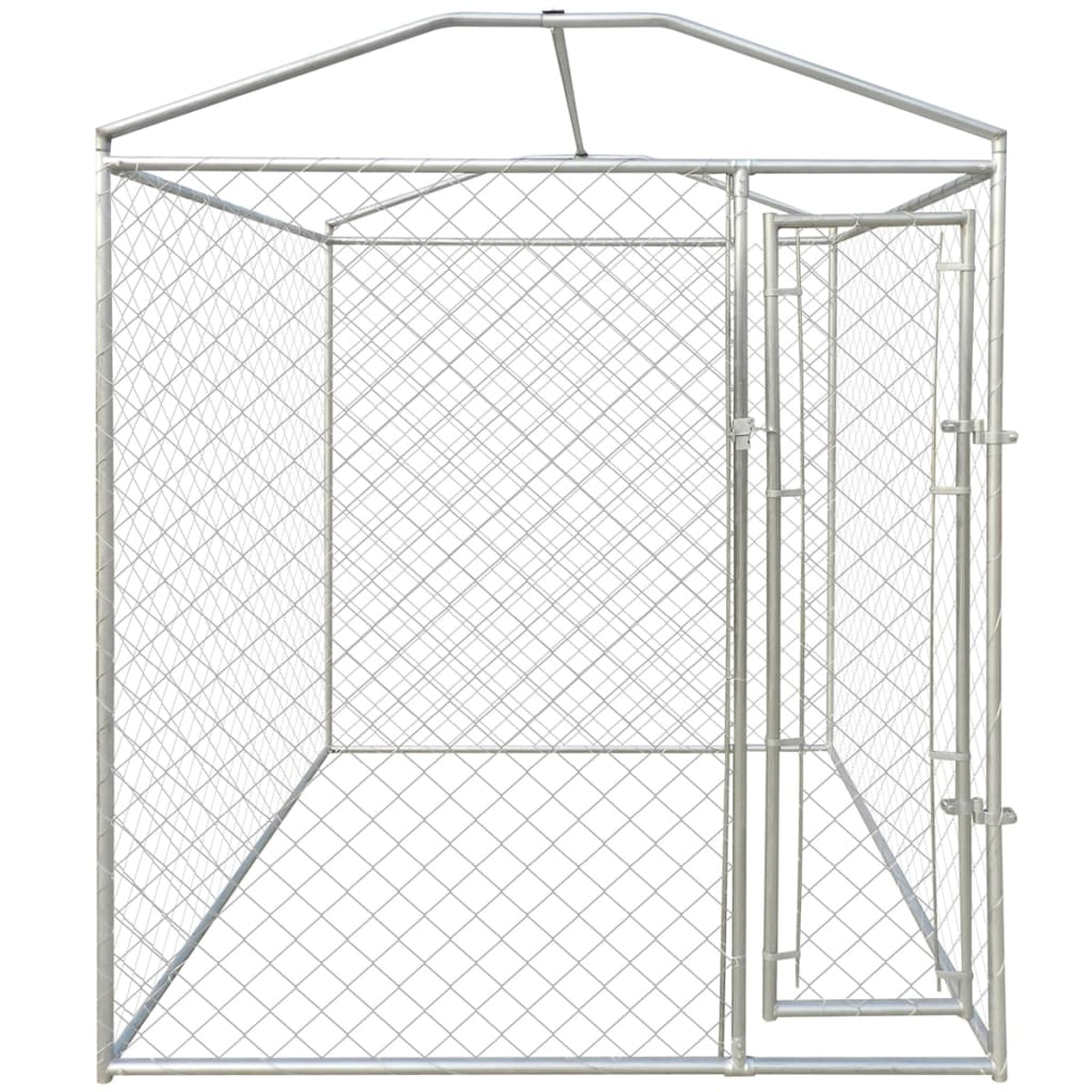 Heavy Duty Outdoor Large Dog Kennel Cage Steel With Canopy