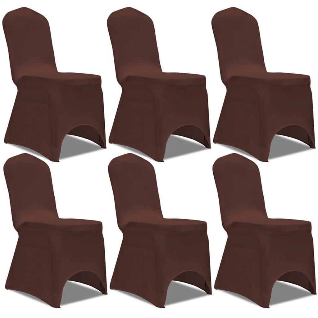 housse de chaise marron