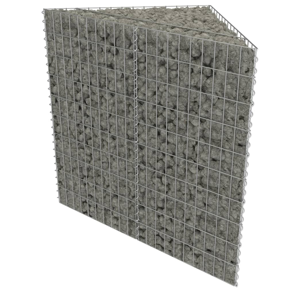 Gabion Planter Galvanised Steel 75x75x50 Cm