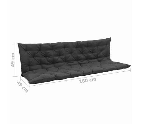 vidaxl cushion for swing chair anthracite 180 cm fabric