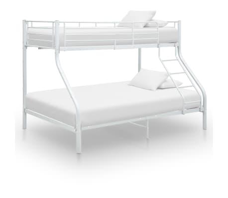 vidaxl cadre de lit superpose blanc metal 140x200 cm 90x200 cm