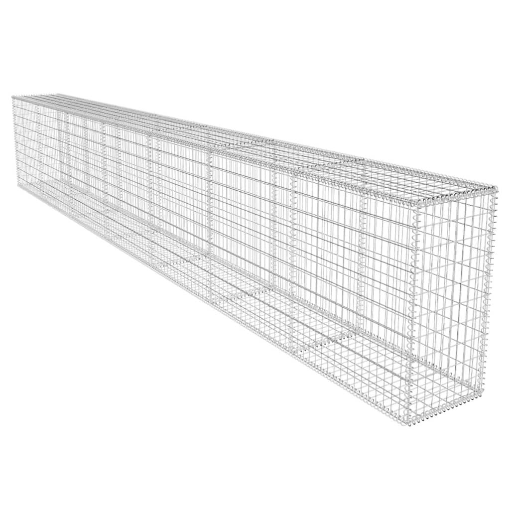 Vidaxl Gabion Basket W Cover Retaining Wall Gardens