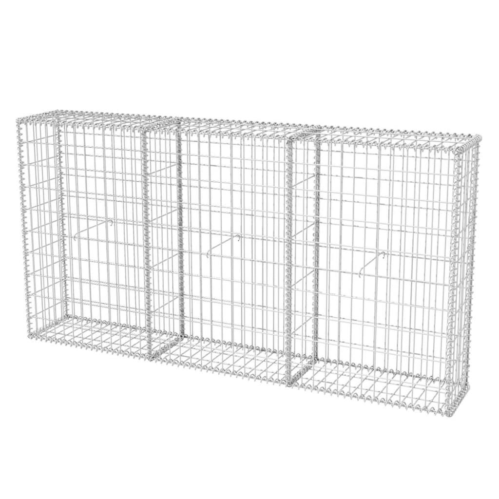 Vidaxl Gabion Basket Steel Garden Barrier Fence Wire