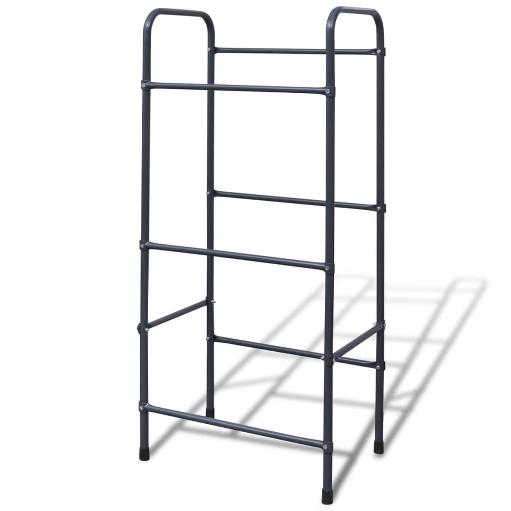 Inclined Steel Shelf For 3 Crates Rack Storage Box Stand