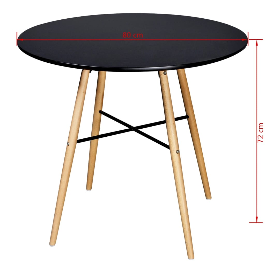 Matte Black Round Dining Table
