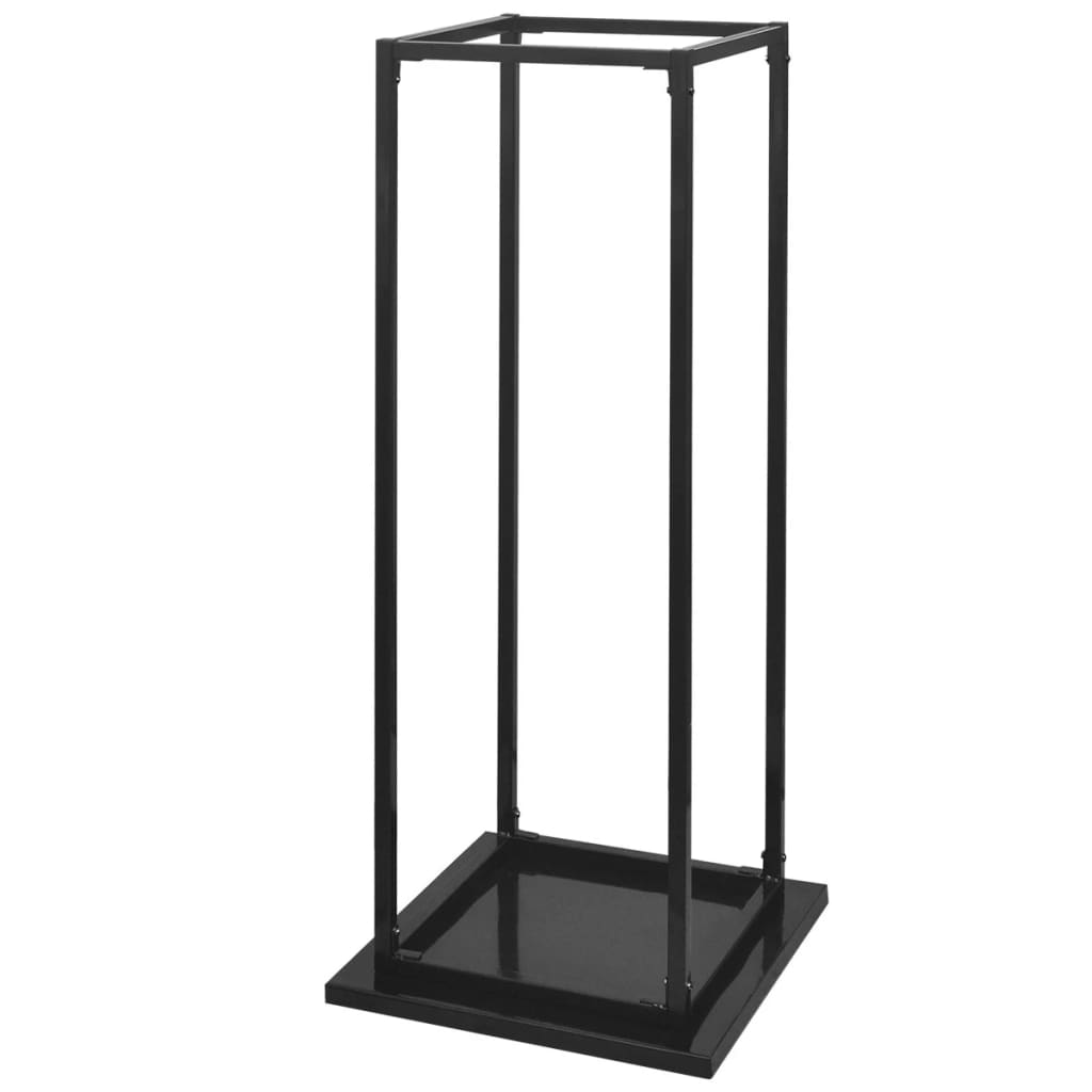 Firewood Rack With Base Log Fireplace Stand Holder Storage