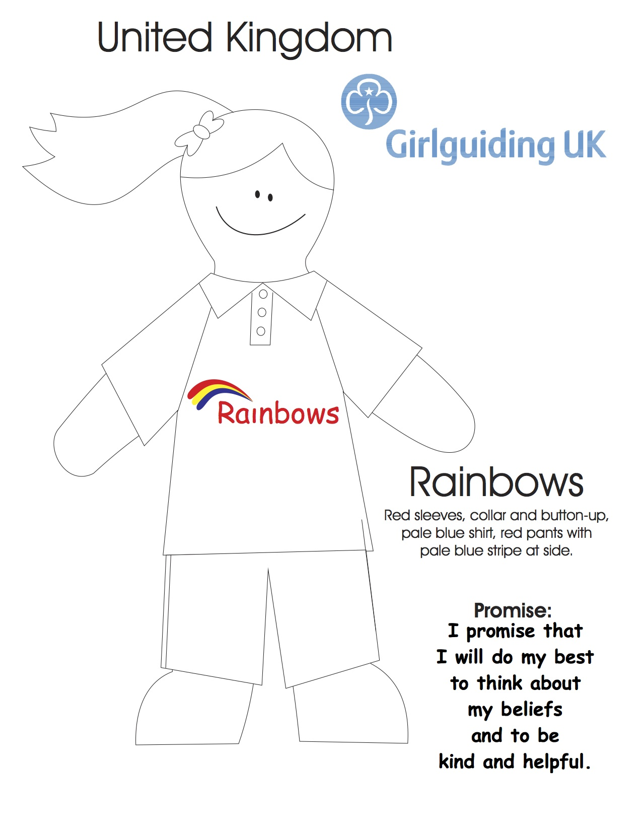 United Kingdom Rainbow Colouring Sheet