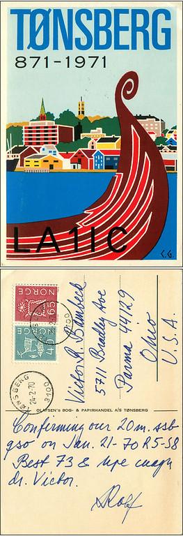 LA1IC QSL Card