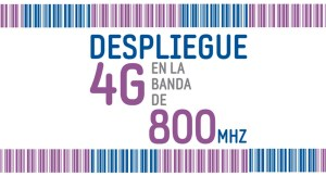 despliegue 4G en banda de 800MHZ