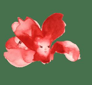 Une fleur enfant à l'aquarelle isolée sur Affinity Designer