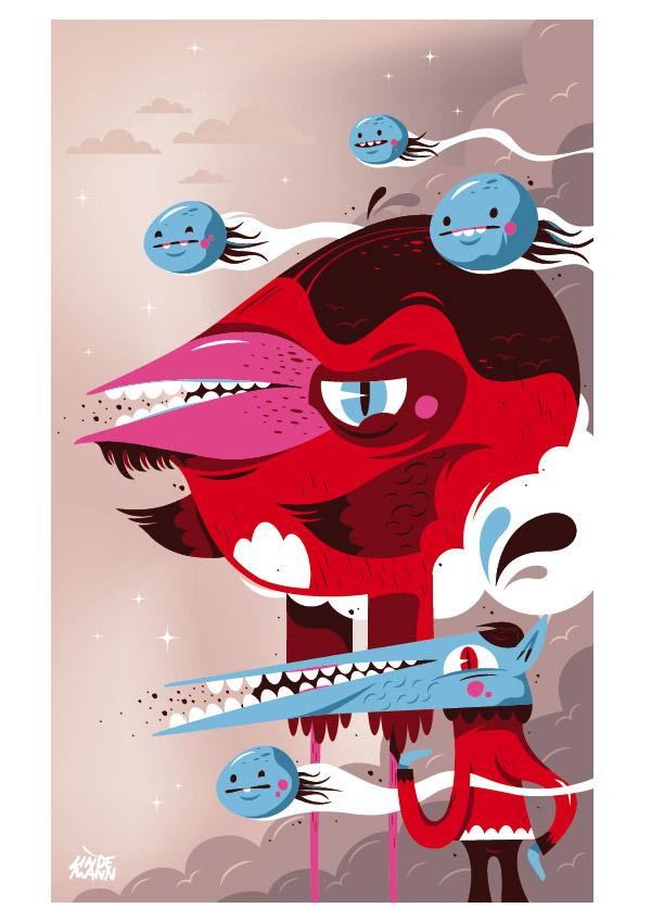 Pocket calendar illustration by Lindedesign