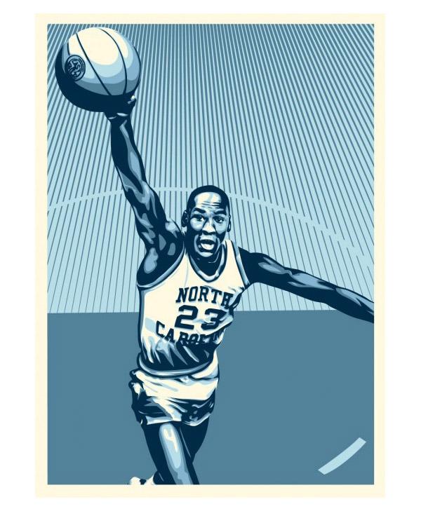 Michael Jordan X Shepard Fairey X Upper Deck Art Prints