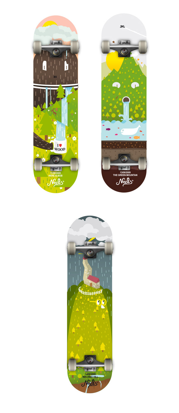 Authentic Skateboard by Deronzier Quentin