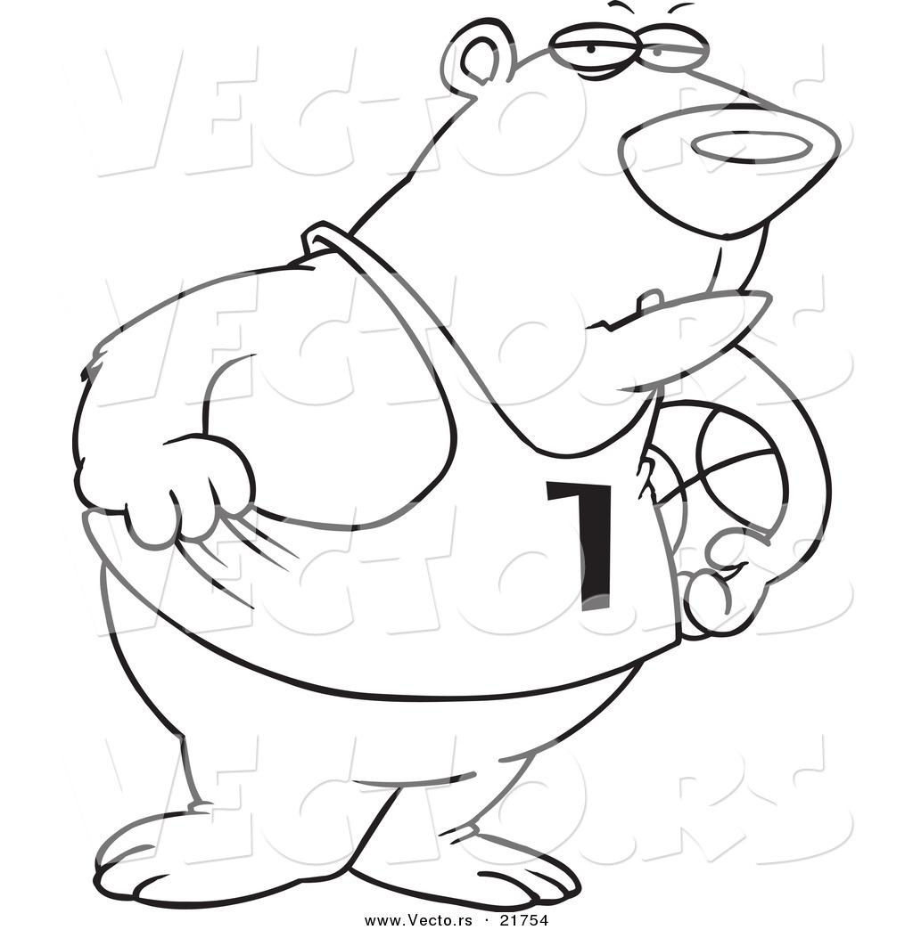 Vector Of A Cartoon Basketball Bear
