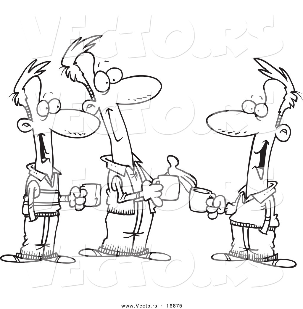 Cartoon People Chatting