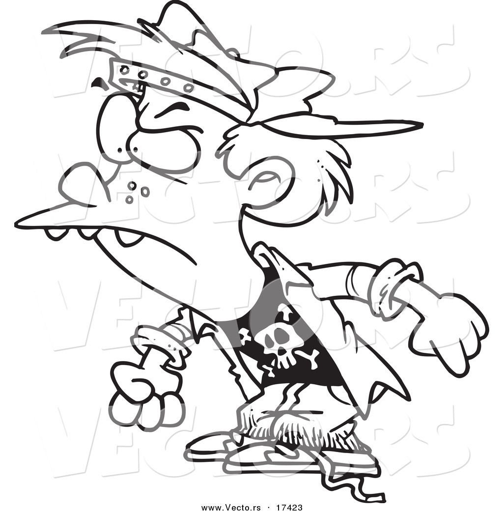 Vector Of A Cartoon Bully Boy