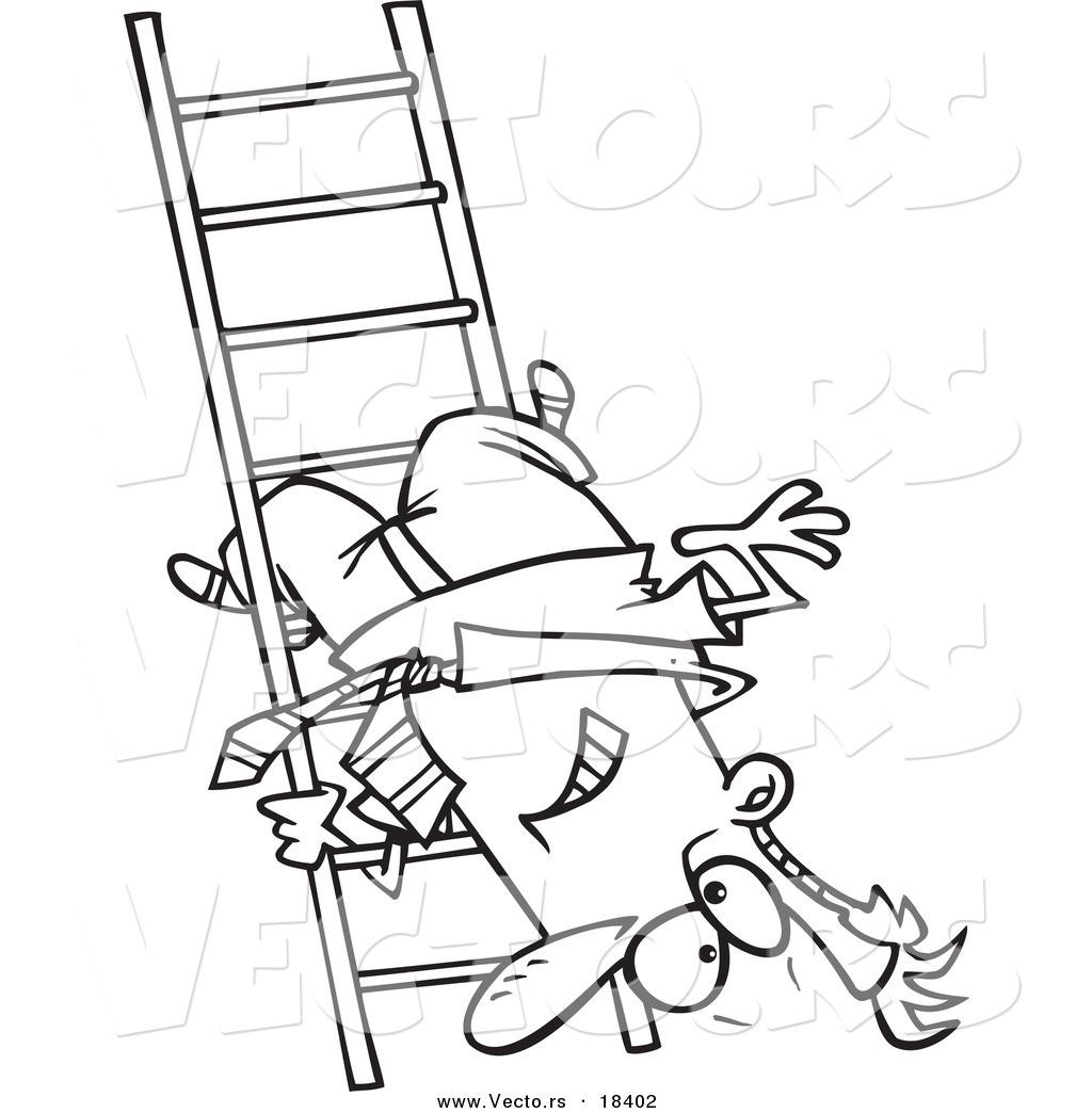 Larger Preview Vector Of A Cartoon Businessman Upside