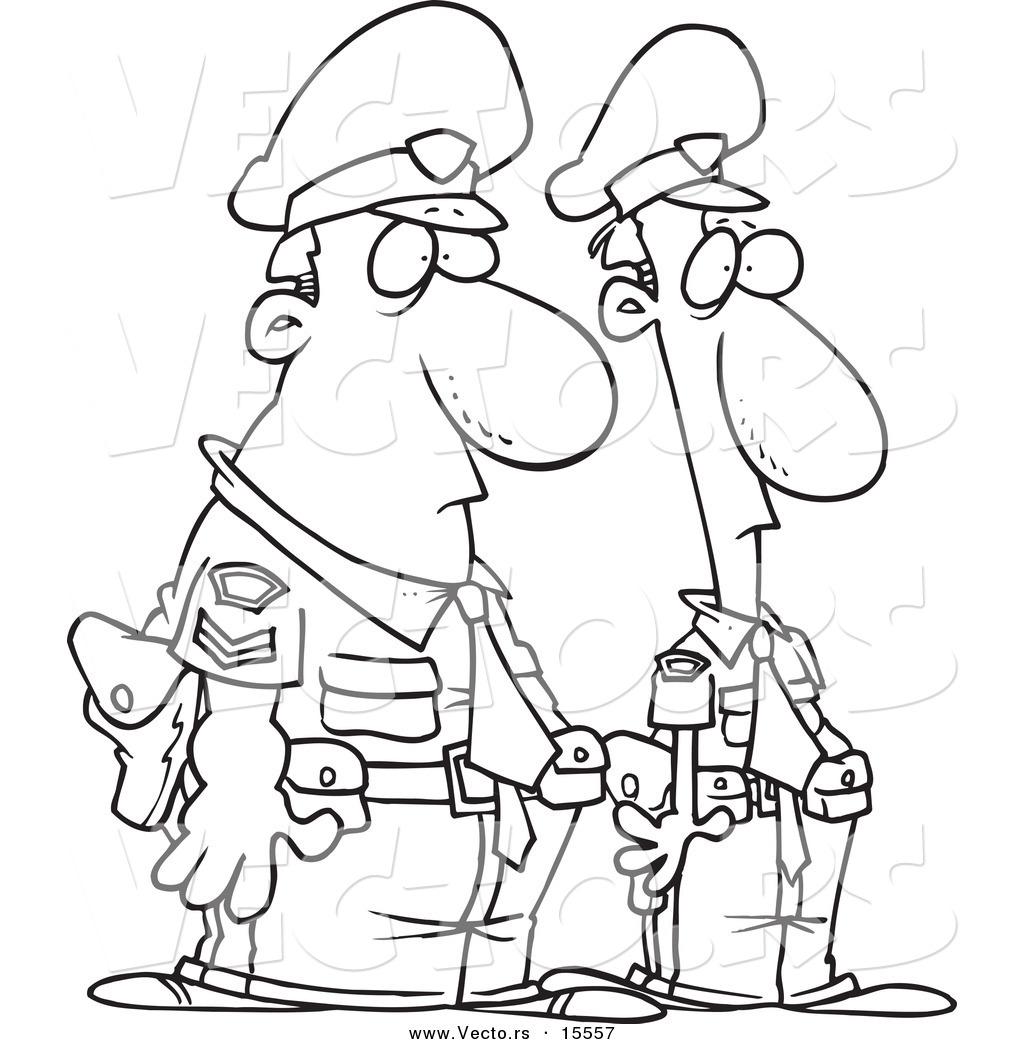 Vector Of A Cartoon Cartoon Black And White Outline Design